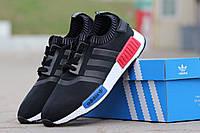 Кроссовки Мужские Adidas NMD черно- белые,летние,сетка