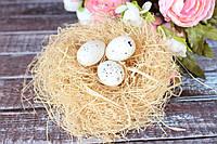 Набор перепелиных пластиковых яиц маленьких, 24 шт/уп, молочного цвета Польша , фото 1