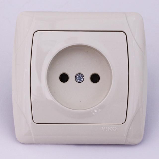 Розетка електрична VIKO Carmen прихованої установки одинарна без заземлення колір крем