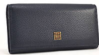 Синий женский кошелек на магнитах Ivorx