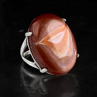 Агат, серебро 925, кольцо, 411КА