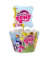 """Топперы для капкейков """"Little Pony"""" В упак. 10 шт."""