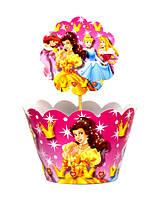 """Топперы для капкейков """"Принцессы"""" В упак. 10 шт."""