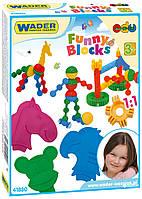 """Конструктор """"Funny blocks"""", в кор 20*25*5см, ТМ Wader (14шт)(41830)"""