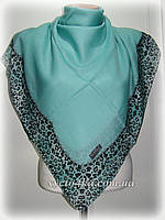 Натуральный платок классик, бирюза