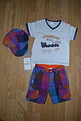 Комплект 3-ка летний для мальчика (футболка+шорты+кепка), Maia (Турция)