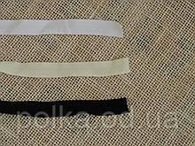 Бейка стрейчевая матовая черная, ширина 15мм, цвет черный (Турция)