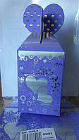 Коробка картонная, 9*10см, печать на фольге, цена за уп. в уп. 12шт.(1006-1K)