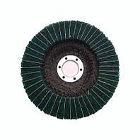Круг лепестковый комбо скотч-брайт P240   для УШМ 125х22 мм. зеленый