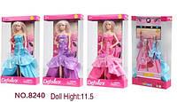 Кукла Defa, с сумочкой, 3 цвета, в кор. 33*18*5,5см (24 шт.)(8240)