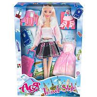 """Кукла Ася шарнирная """"Путешествие""""; 28 см; блондинка; вариант 2, в кор. 32*19*5см(35088)"""