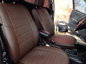 Авточехлы из экокожи шоколад  на  Audi 100 (C 3) с 1982-1991г. седан,универсал