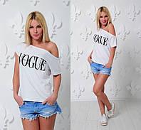 Белая футболка женская с рисунком