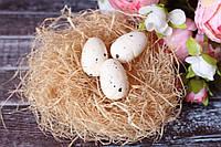"""Яйцо перепелиное маленькое"""" кремового цвета Польша"""