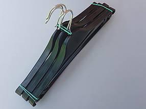 Плечики вешалки тремпеля Турок черного цвета, длина 39 см, фото 3