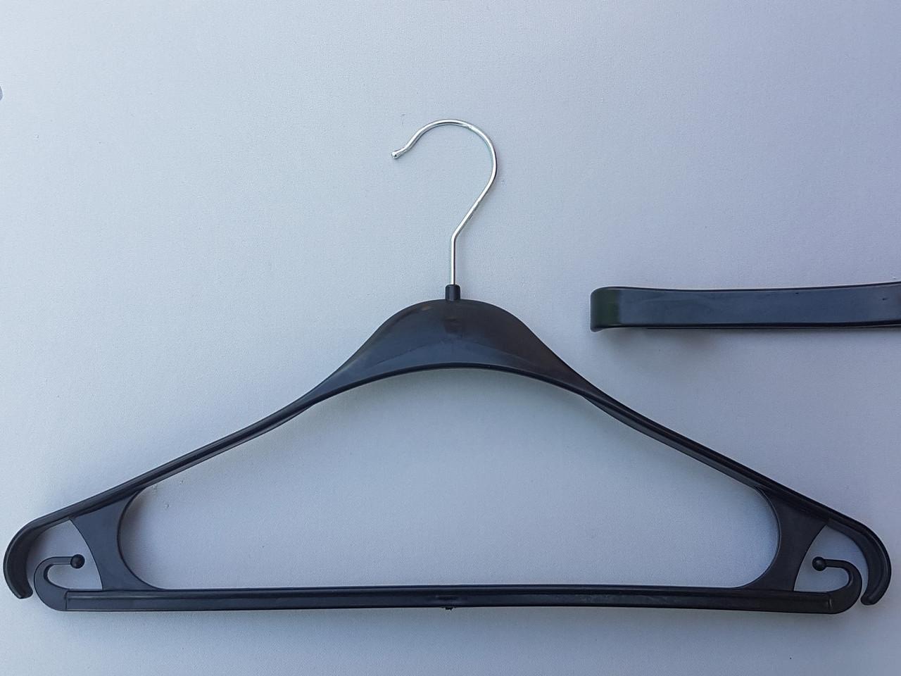 Плечики вешалки тремпеля Турок черного цвета, длина 39 см