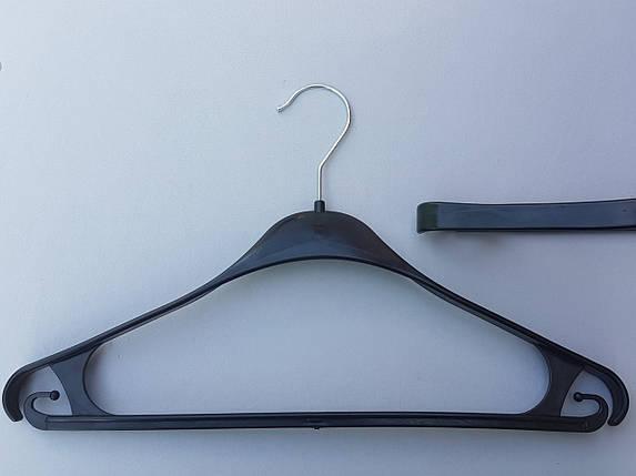 Плечики вешалки тремпеля Турок черного цвета, длина 39 см, фото 2