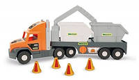 """Машина """"Super Truck"""", с строитенльным контейнером, в кор.27*82*20 см, ТМ Wader (шт)(36760)"""