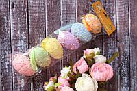 Набор яиц-подвесок из пенопласта разноцветных цвета, 6 шт/уп.