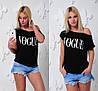 Свободная черная футболка женская