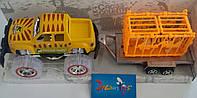 Машина-джип с прицепом и львом в клетке, инерц., 50*16*16см  (48шт)(AG57091)