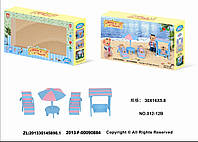 "Мебель ""Happy Family"", ""Пляж"", в кор. 30*16*5см (48шт)(012-12B)"