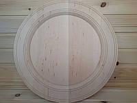 Деревянная тарелка 38 см с коемкой под роспись и декупаж