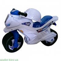 Мотоцикл 2-х колесный, белый, с каской, немуз., в пак. 65*46см, ТМ Орион, произв-во Украина (1шт)(501в.2белый)