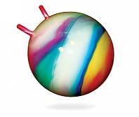 Мяч для фитнеса с рожками, d-55см, ТМ BAMSIC, в пак. 35*25см, произ-во Украина (10 шт/уп)(0211)