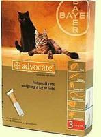 Адвокат капли для кошек весом до 4 кг (1пипетка)
