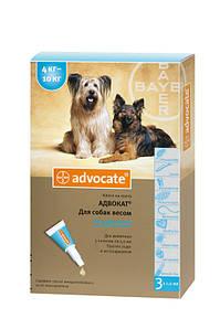 Адвокат капли для собак весом 4-10кг (1пипетка)