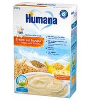 Молочная каша Humana 5 злаков с бананом 200 гр.