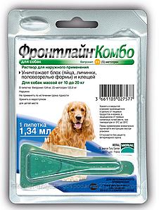 Merial Frontline Combo  (Фронтлайн Комбо) М капли для собак от 10 до 20 кг 1пипетка