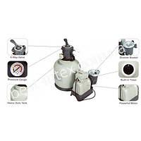 Intex 56674 (25 кг. - 10000 л/ч.) Песочный насос-фильтр для бассейнов Sand Filter Pump, фото 1