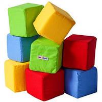 """Набор кубиков """"Цветные"""", в сумке 27*20*8см (6шт)(А038)"""