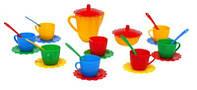 """Набор посуды """"Ромашка"""" 28 эл., (стандарт, пастель), в сумке 16*14см, ТМ Wader (40шт)(39129)"""