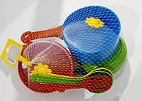 """Набор посуды столов. """"Ромашка"""", 10 дет., 2 вида (пастель, стандарт), (50 шт.), ТМ Wader(39142)"""