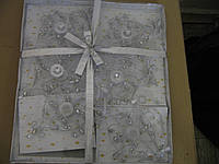 Подвеска декор. ткань 15см, 6шт, 6цв,(НГ0055)