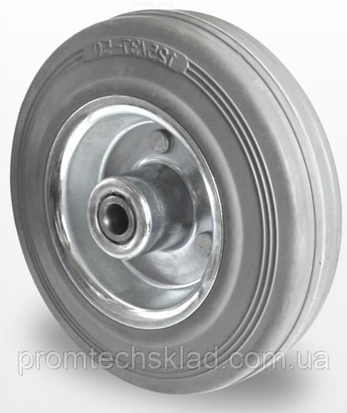 Колесо серая резина без кронштейна диаметр 125 мм Германия