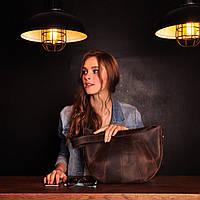 Кожаная сумка коричневая Сroissant
