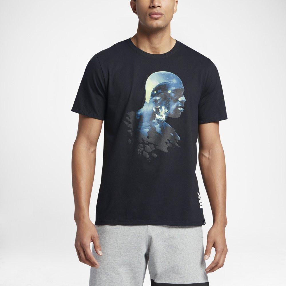 Оригинальная мужская футболка Jordan AJ 13 Black Cat  продажа, цена ... f608ffaf34d