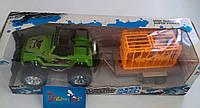 Трейлер с прицепом и тигром инерц., в кор. 37*13*13см (48шт)(9951-1)