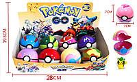 """Фигурка """"Pokemon Go"""", ловушка-шарик, 7см, ЦЕНА ЗА УП., В УП. 8ШТ, в кор. 28*14*7см (60уп/480шт)(BT-PG-0002)"""