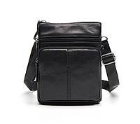 Мужская кожаная мини-сумка через плечо Marrant | черная, фото 1