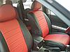 Авточехлы из экокожи черные с красным на  Volkswagen Touran с 2004-2014г. Компактвэн, фото 3