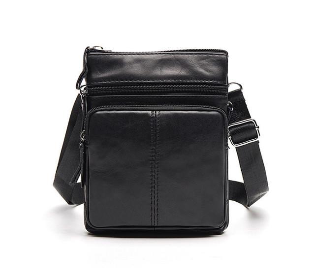 Мужская кожаная мини-сумка Marrant | вид спереди