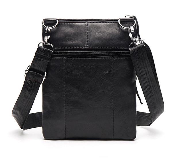 Мужская кожаная мини-сумочка через плечо Marrant | черная