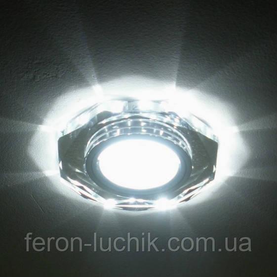 Вбудований світильник Feron 8020-2 з LED підсвічуванням точковий