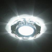 Встраиваемый светильник Feron 8020-2 с LED подсветкой точечный, фото 1