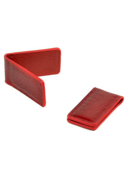 Кошелек Зажим для денег кожа Bretton Clip-Croc red